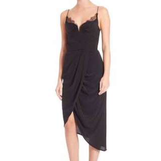 Zimmermann Black Silk Dress With Lace Trimmings