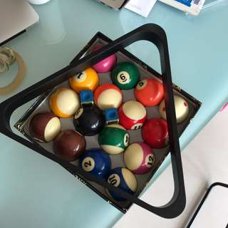 Give away Pool balls and triangle