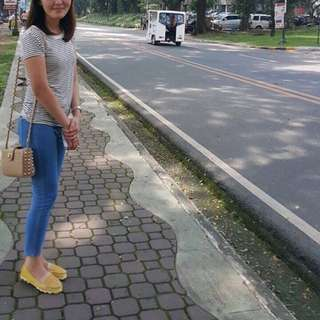 Sling Bag and Jelly Shoes