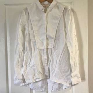 sass & bide White Button Up Shirt