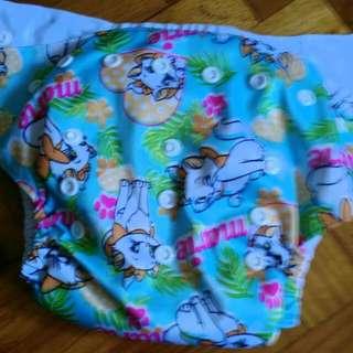 Cat Cloth Diaper With Insert