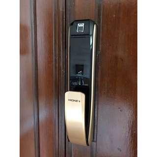 Hione Push Pull Digital Lock (Condo / HDB Main Door) + Free Digital Door Viewer + Local Warranty (1+2 Years)