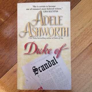 Duke Of Scandal By Adele Ashworth