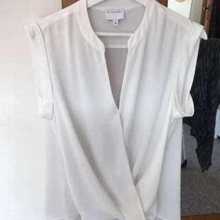 Witchery White Cross Over Top