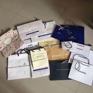 各品牌紙袋