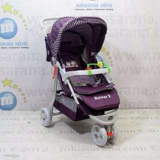 Creative Baby BS328 Runner-2 3-Wheeler Kereta Bayi - Purple