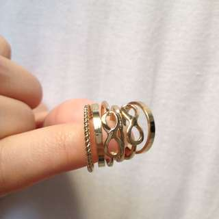 H&M Gold Rings