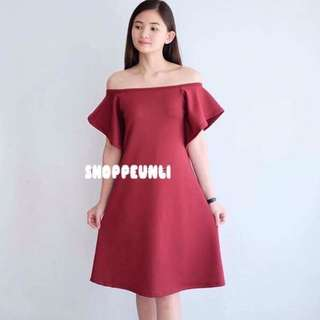 Off Shoulder Red Dress