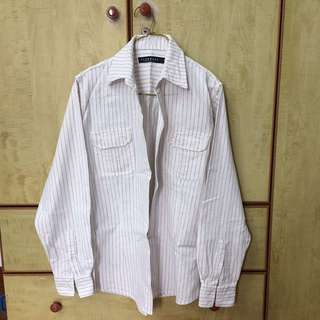 Club Marc (Marc Jacobs) Long Sleeved White Shirt Size S