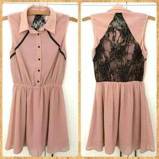 Pink Dress w/lace Back