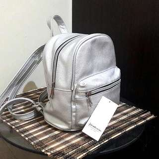 Silver Mini Backpack By Stradivarius