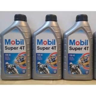 [已售出 - SOLD] Mobil Super 4T 15W-40 1L 1000cc 四行程機油