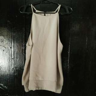beige strings sleeveless