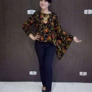Asymetric Batik Top