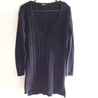 💵Price Drop!💵 Black Cable Knit Sweater Dress