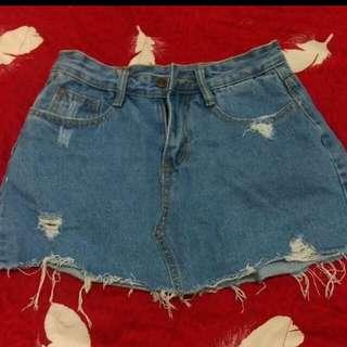 牛仔褲裙#兩百元短褲