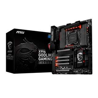 BNIB - MSI - X99A GODLIKE GAMING CARBON - ( MOTHER BOARD ) (comes with 3 years local warranty & Invoice) (within 7 days 1:1 exchange period on warranty)