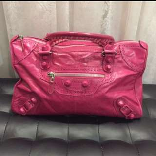 Balenciaga Hot Pink Work Bag