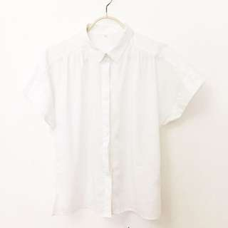 White Short-sleeved Button Down Shirt