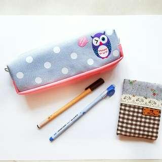 Pencil Case / Card Holder / 2 Ink Pens