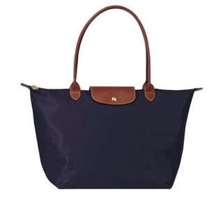 Longchamp 長把m 深藍色