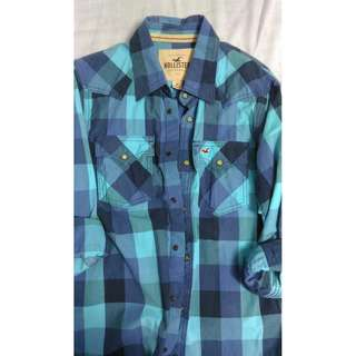 Plaid Shirt by Hollister Size MEDIUM