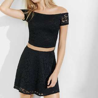 *Express* Black Lace Mini Skirt