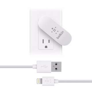 BelkinChargeSync 2-Port Home Charger + Cable F8J077uk04-WHT