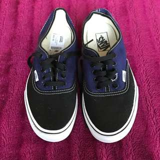Authentic Black And Bluey Purple Patriot Styles VANS