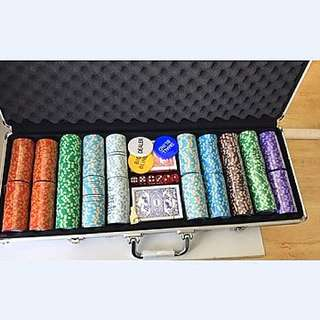 Poker Chips Set With Metal Case