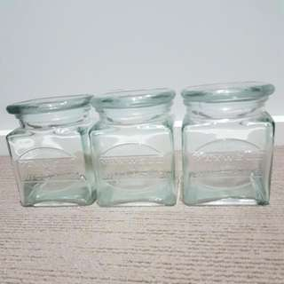 Maxwell And Williams 3x Glass Canisters