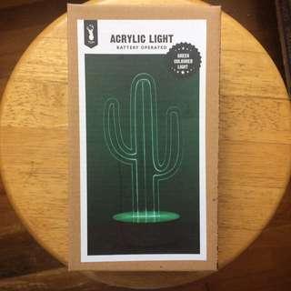 Typo Cactus Acrylic Light