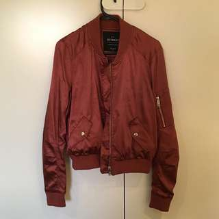 CottonOn Metallic Red Copper Bomber