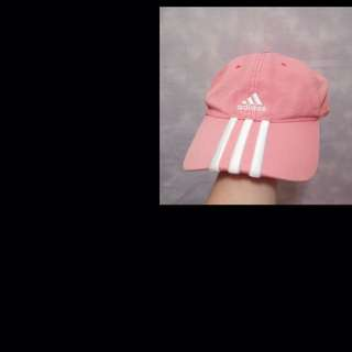 [稀有]古著粉紅adidas 老帽