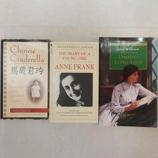 英文小說3本