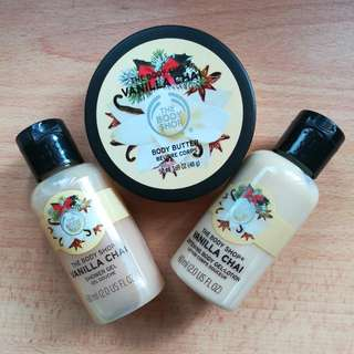 (New + free📮)The Body Shop Vanilla Chai products #freepostage