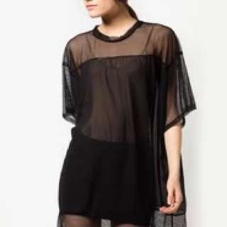 Pre-loved Mesh Tunic Dress