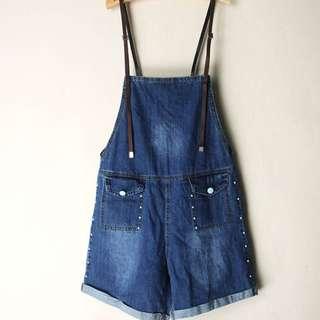 [BNWT] denim dungaree / denim overall / dungaree shorts / jumpsuit / romper
