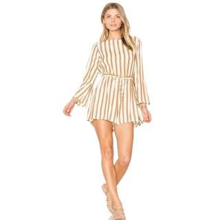 Ruffle Striped Playsuit