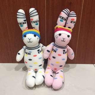 🚚 (手作全新)兔子 情侶/閨蜜 襪娃