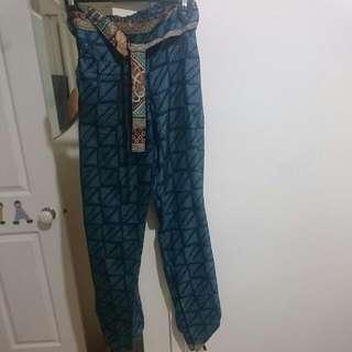 Ishka Pants 100% Silk