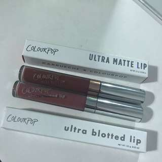 Colourpop Matte Lip And Blotted Lip