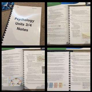 VCE Psychology 3/4 Notes, Sacs, Practice Exams, Cue Cards, Revision, NEAP Etc. - Psych 3&4