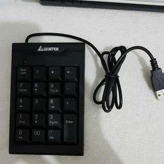 🚚 筆電外接 數字鍵盤 黑色