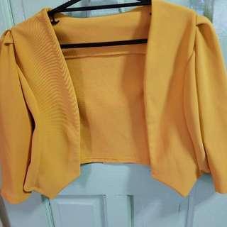 Mustard Color Blazer