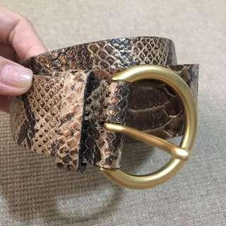 Massimo Dutti Snakeskin Belt