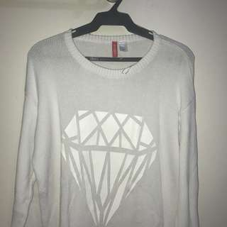H&M Over Sized Diamond Knit Sweater