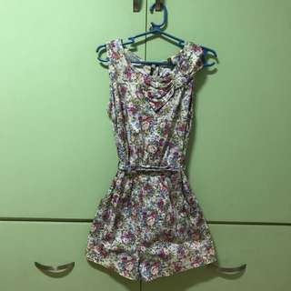 Seven dials (the Ramp) Floral Backless Romper