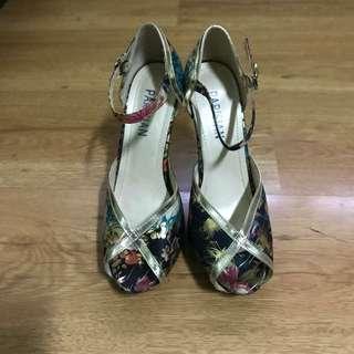 Parisian Peep Toed High Heels