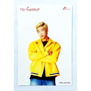 BTS Official SK Telecom Limited Postcards 2017 - Rap Monster